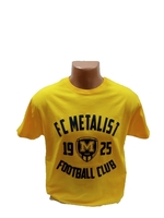 Футболка трикотажна ФК Металіст 1925 модель CLUB жовта