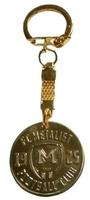 Брелок металлический для ключей ФК Металлист 1925 модель монета