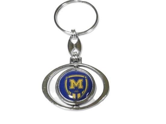 Брелок металлический для ключей ФК Металлист 1925 овальный
