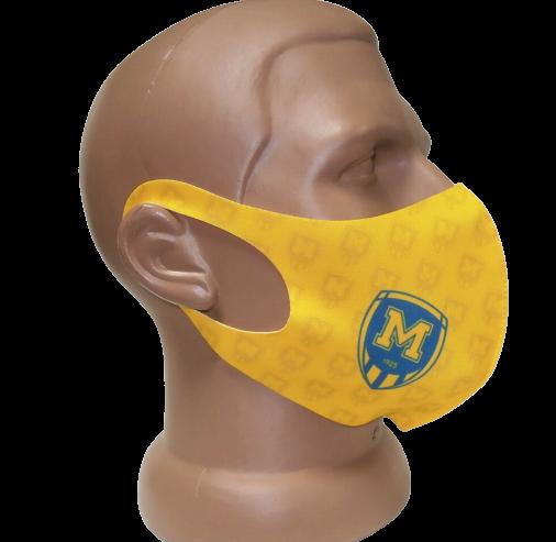 Захисна маска для обличчя з лого ФК Металіст 1925 жовта