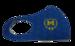 Защитная маска для лица с лого ФК Металлист 1925 синяя