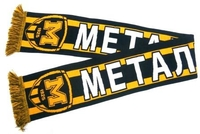 Scarf Ukrainian football club Metalist 1925 (Kharkov), model В
