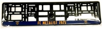 Рамка автомобильная под номер  ФК Металлист 1925 - синяя