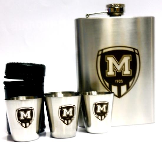Набір металевий - фляга и стопки ФК Металіст 1925 модель В